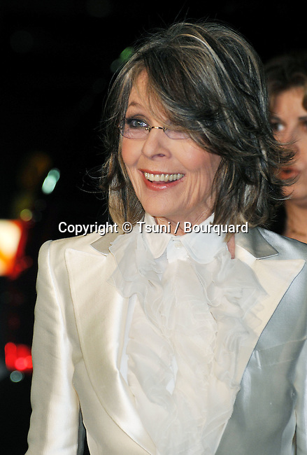 Diane Keaton  arriving at the MAD MONEY Premiere at the Westwood Theatre In Los Angeles.<br /> <br /> headshot<br /> smile