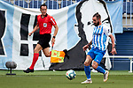 Miguel Cifuentes (Malaga CF) seen in action during La Liga Smartbank match round 39 between Malaga CF and RC Deportivo de la Coruna at La Rosaleda Stadium in Malaga, Spain, as the season resumed following a three-month absence due to the novel coronavirus COVID-19 pandemic. Jul 03, 2020. (ALTERPHOTOS/Manu R.B.)