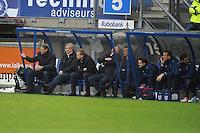 VOETBAL: HEERENVEEN: Abe Lenstra Stadion, 09-12-2012, Eredivisie 2012-2013, SC Heerenveen - Roda JC, Eindstand 4-4, Marco van Basten (trainer/coach), Henk Herder (assistent-trainer), Tieme Klompe (assistent-trainer), Herman van Dijk (teammanager), ©foto Martin de Jong