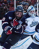 Brian Morgan (UConn - 28), Rob McGovern (Maine - 35) - The University of Maine Black Bears defeated the University of Connecticut Huskies 4-0 at Fenway Park on Saturday, January 14, 2017, in Boston, Massachusetts.
