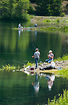 Fishing in the Cascade Mountains of Oregon