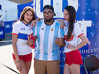 Foxborough, MA - Saturday June 18, 2016: Fans during a Copa America Centenario quarterfinal match between Argentina (ARG) and Venezuela (VEN)  at Gillette Stadium.