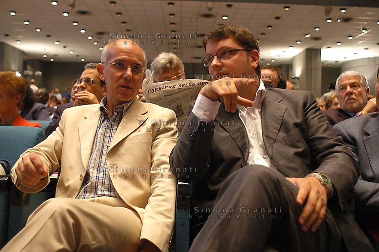 Roma, 16 Giugno 2007.Assemblea nazionale della sinistra europea..Gennaro Migliore , Vittorio Agnoletto