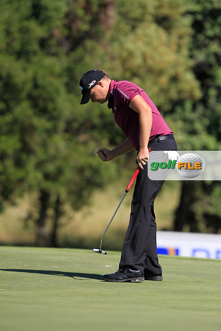James Morrison (ENG) on the 17th green during Round 4 of the Open de Espana  in Club de Golf el Prat, Barcelona on Sunday 17th May 2015.<br /> Picture:  Thos Caffrey / www.golffile.ie