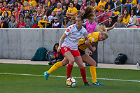 Sandy, UT - Saturday April 14, 2018: Katie Naughton, Elise Thorsnes during a regular season National Women's Soccer League (NWSL) match between the Utah Royals FC and the Chicago Red Stars at Rio Tinto Stadium.