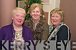 Enjoying Womens Christmas in Paddys restaurant on Tuesday night were Geraldine Reen, Joan Doherty and Anne Cahill, Rathmore...