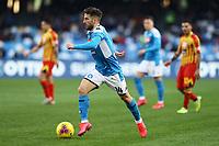 9th February 2020; Stadio San Paolo, Naples, Campania, Italy; Serie A Football, Napoli versus Lecce; Dries Mertens of Napoli braks forward