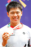 Yoshitaku Nagasako (JPN), <br /> AUGUST 25, 2018 - Cycling - BMX : <br /> Men's BMX Race Medal Ceremony <br /> at Pulo Mas International BMX Center <br /> during the 2018 Jakarta Palembang Asian Games <br /> in Jakarta, Indonesia. <br /> (Photo by Naoki Morita/AFLO SPORT)
