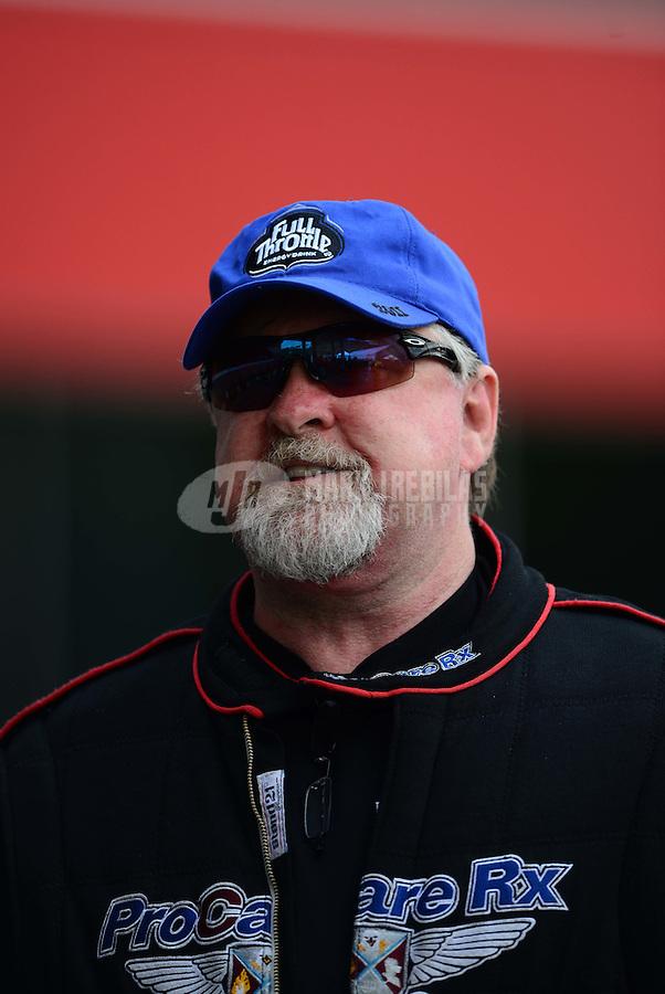 Jun. 16, 2012; Bristol, TN, USA: NHRA pro mod driver Roger Burgess during qualifying for the Thunder Valley Nationals at Bristol Dragway. Mandatory Credit: Mark J. Rebilas-
