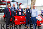Corrib Oil handing the keys to a delighted Tim O'Connor (Tralee) at Corrib Oil in Tralee on Saturday.  <br /> Michael Dalton (Retail Manager), Dan Donan (Corrib Oil), Tim O'Connor, Sean Hennessy (Store Manager) and Liam Hogan (Operations Manager).