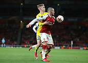 7th December 2017, Emirates Stadium, London, England; UEFA Europa League football, Arsenal versus BATE Borisov; Jasse Tuominen of BATE Borisov puts pressure on Jack Wilshere of Arsenal
