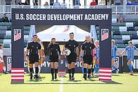 Irvine, CA - July 11, 2019: U.S. Soccer Girls' DA U-15 Final San Jose Earthquakes vs Colorado Rush at Great Park.