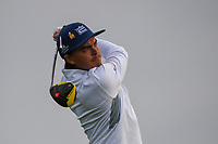 Rickie Fowler (USA) watches his tee shot on 11 during day 1 of the Valero Texas Open, at the TPC San Antonio Oaks Course, San Antonio, Texas, USA. 4/4/2019.<br /> Picture: Golffile   Ken Murray<br /> <br /> <br /> All photo usage must carry mandatory copyright credit (&copy; Golffile   Ken Murray)