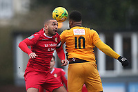 Lewwis Spence of Hornchurch and Omar Folkes of Merstham during Hornchurch vs Merstham, BetVictor League Premier Division Football at Hornchurch Stadium on 15th February 2020