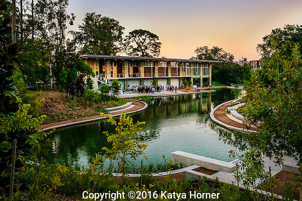 Photos of The Dunlavy along Buffalo Bayou.