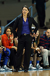 03 February 2013: Duke head coach Joanne P. McCallie. The University of North Carolina Tar Heels played the Duke University Blue Devils at Carmichael Arena in Chapel Hill, North Carolina in an NCAA Division I Women's Basketball game. Duke won the game 84-63.