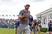 Dustin Johnson (USA) walks off the 9th green together during the second round of the 118th U.S. Open Championship at Shinnecock Hills Golf Club in Southampton, NY, USA. 15th June 2018.<br /> Picture: Golffile | Brian Spurlock<br /> <br /> <br /> All photo usage must carry mandatory copyright credit (&copy; Golffile | Brian Spurlock)
