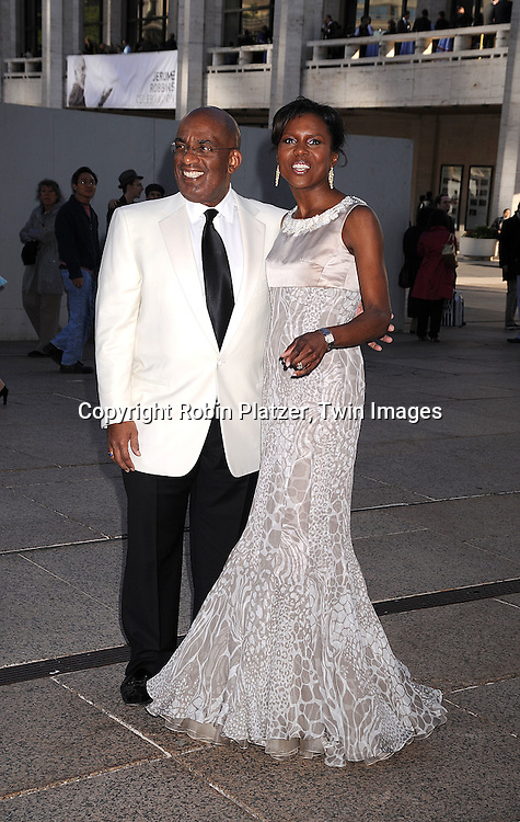 Al Roker and Deborah Roberts in Petra by Dennis Basso..posing for photographers at The 68th Annual American Ballet Theatre Spring Gala on May 19, 2008 at the..Metropolitan Opera House in New York City. ....Robin Platzer, Twin Images
