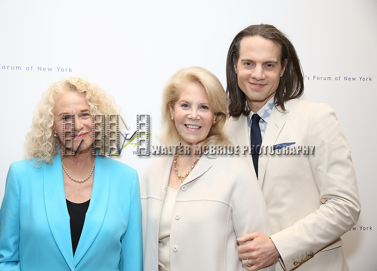 Carole King, Daryl Roth and Jordan Roth attend The 7th Annual Elly Awards at The Plaza Hotel on June 19, 2017 in New York City.