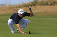 Dan Sheehan (Knowle) on the 16th green during Round 2 - Strokeplay of the North of Ireland Championship at Royal Portrush Golf Club, Portrush, Co. Antrim on Tuesday 10th July 2018.<br /> Picture:  Thos Caffrey / Golffile