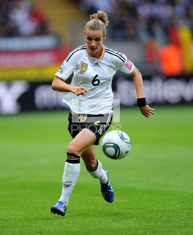 Simone Laudehr of team Germany during the FIFA Women's World Cup at the FIFA Stadium in Frankfurt, Germany on June 30th, 2011.