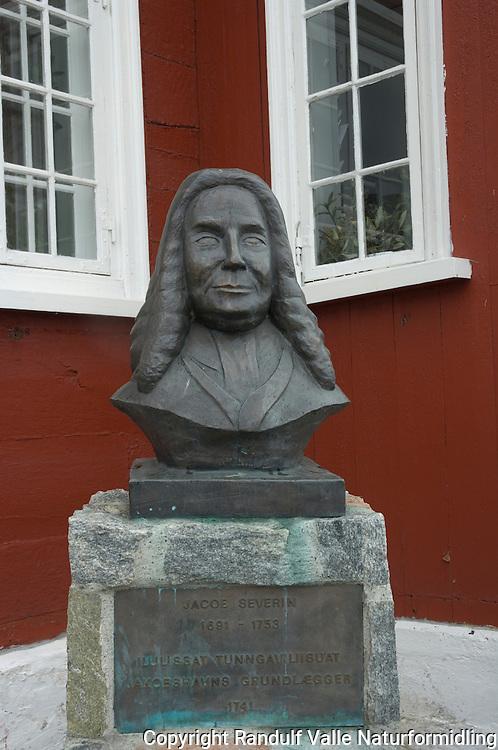 Jacoe Severin, grunnlegger av Ilulissat ---- Jacoe Severin founder of Ilulissat