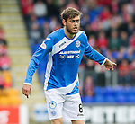 St Johnstone v Aberdeen&hellip;07.08.16  McDiarmid Park. SPFL<br />Murray Davidson<br />Picture by Graeme Hart.<br />Copyright Perthshire Picture Agency<br />Tel: 01738 623350  Mobile: 07990 594431