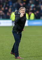 Wycombe Wanderers Manager Gareth Ainsworth celebrates the victory during the Sky Bet League 2 match between Wycombe Wanderers and Bristol Rovers at Adams Park, High Wycombe, England on 27 February 2016. Photo by Andy Rowland.
