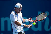 Evgeny Korolev (RUS) against Sam Querrey (USA) oin the first round of the Mens Singles. Korolev beat Querrey 6-2 5-7 6-4..International Tennis - Medibank International Sydney - Tues 12 Jan 2010 - Sydney Olympic Park  Tennis Centre- Sydney - Australia ..© Frey - AMN Images, 1st Floor, Barry House, 20-22 Worple Road, London, SW19 4DH.Tel - +44 20 8947 0100.mfrey@advantagemedianet.com
