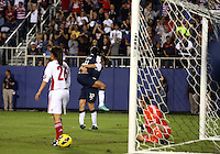 BOCA RATON, FL - DECEMBER 15, 2012: Lauren Cheney (12) and Sydney Leroux (11) of the USA WNT after Sydney Leroux (11) had scored during an international friendly match match against China at FAU Stadium, in Boca Raton, Florida, on Saturday, December 15, 2012. USA won 4-1.