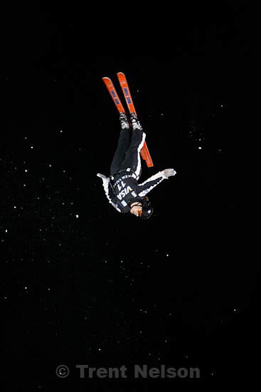 Trent Nelson  |  The Salt Lake Tribune.Amber Peterson, Canada, Aerials competition at the FIS Freestyle World Cup at Deer Valley, Friday, January 15, 2010.