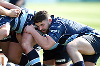 Huw Worthington of Bedford Blues looks on at a scrum. Greene King IPA Championship match, between Ealing Trailfinders and Bedford Blues on April 20, 2019 at the Trailfinders Sports Ground in London, England. Photo by: Patrick Khachfe / Onside Images