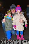 Pictured at the Aquadome fireworks on New Year's Eve were l-r: Fionn O'Connor, Tim Connor and Mai O'Connor (Ardfert).