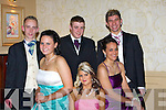 BALL: Having a great time at the Vocational School, Abbeyfeale Debs in the Abbey Gate Hotel, Tralee on Thursday night. were; l-r: Vinnie O'Connor, Nora Delee, Bronwyn Anderson, Patrick Kelly, Roisín Anderson and Joseph Lenihan.............   Copyright Kerry's Eye 2008