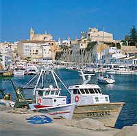 Spain, Balearic Islands, Menorca, Ciutadella: Town and Harbour | Spanien, Balearen, Menorca, Ciutadella: Stadt und Hafen