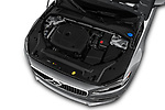Car stock 2018 Volvo S90 T6 Inscription 4 Door Sedan engine high angle detail view