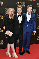 Jason Donovan with his children Jemma &amp; Zac<br /> The Olivier Awards 2018 , arrivals at The Royal Albert Hall, London, UK -on April 08, 2018.<br /> CAP/PL<br /> &copy;Phil Loftus/Capital Pictures