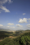 Israel, Lower Galilee, a view of Sachnin valley from road 7955