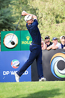 Justin Rose (ENG) on the 16th during the final round of the DP World Tour Championship, Jumeirah Golf Estates, Dubai, United Arab Emirates. 19/11/2017<br /> Picture: Golffile | Fran Caffrey<br /> <br /> <br /> All photo usage must carry mandatory copyright credit (© Golffile | Fran Caffrey)