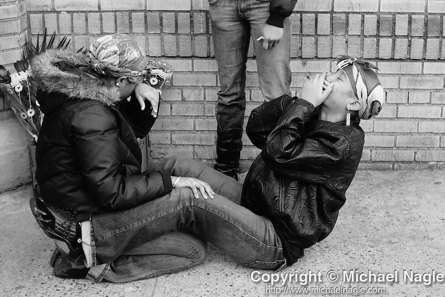 BROOKLYN - JANUARY 22: Neighbors and friends react to the death of Ronald Redgrave, 17, who was shot leaving a sweet 16 party on East 52nd Street, on January 22, 2006 in Brooklyn.  (Photograph by Michael Nagle for The New York Times)