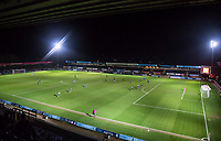 General view of play during the Sky Bet League 2 match between Wycombe Wanderers and Plymouth Argyle at Adams Park, High Wycombe, England on 14 March 2017. Photo by Andy Rowland / PRiME Media Images.