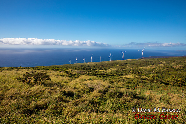 Wind Turbines & Maui Coastline