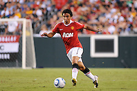 Fabio (20) of Manchester United. Manchester United (EPL) defeated the Philadelphia Union (MLS) 1-0 during an international friendly at Lincoln Financial Field in Philadelphia, PA, on July 21, 2010.