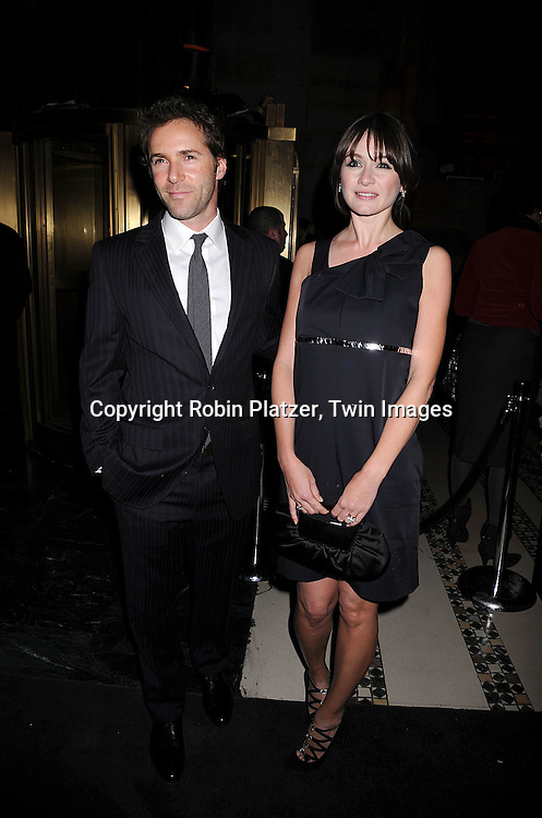 Emily Mortimer and boyfriend Alessandro Nivola.posing for photographers at The 2007 National Board of Review of Motion Pictures Awards Gala presented by Bulgari on January 15, 2008 at Cipriani's 42nd Street. .Robin Platzer, Twin Images