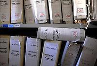 Roma, Maggio 2011.Archivio Giudiziario della corte D'Assise.Le Carte relative ai processi Moro 1, 2 e ter..Rome, May 2011. Judicial archive,.Papers relating to the processes Moro 1, 2 and ter