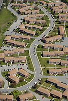 Housing development, aerial view,  Poughkeepsie, NY