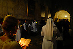 Nuns are praying at the Church of The Holy Sepulchre in east Jerusalem,today,Sunday September 2 2007.PHOTO BY TOMER NEUBERG / JINI