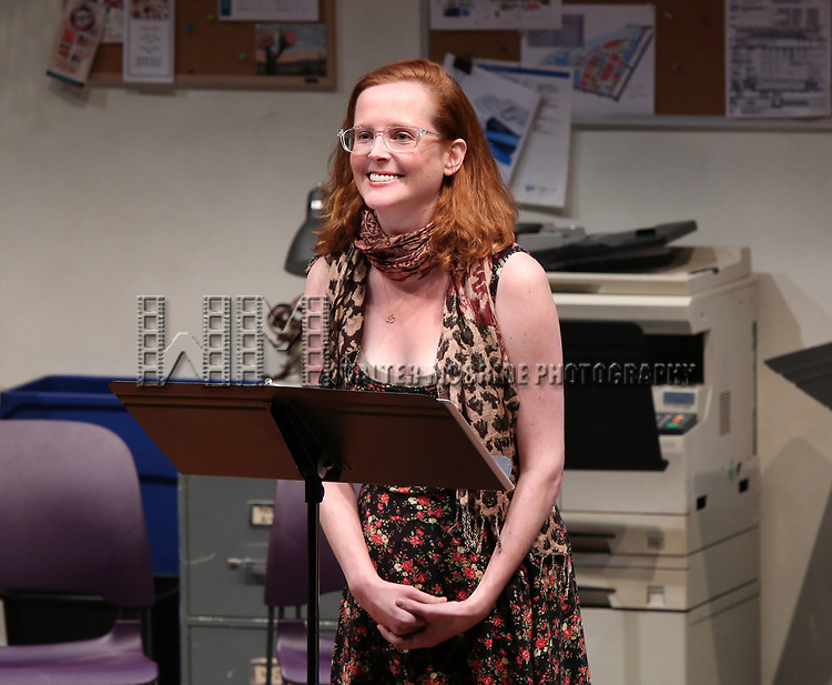 """Anna O'Donoghue """"Three Fat Sisters"""" during the 2018 Presentation of New Works by the DGF Fellows on October 15, 2018 at the Playwrights Horizons Theatre in New York City."""