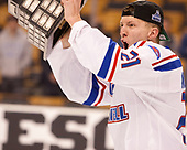Jake Kamrass (UML - 21) The University of Massachusetts-Lowell River Hawks defeated the Boston College Eagles 4-3 to win the 2017 Hockey East tournament at TD Garden on Saturday, March 18, 2017, in Boston, Massachusetts.
