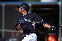 Seattle Mariners Gareth Morgan (12) during an instructional league intrasquad game on October 6, 2015 at the Peoria Sports Complex in Peoria, Arizona.  (Mike Janes/Four Seam Images)
